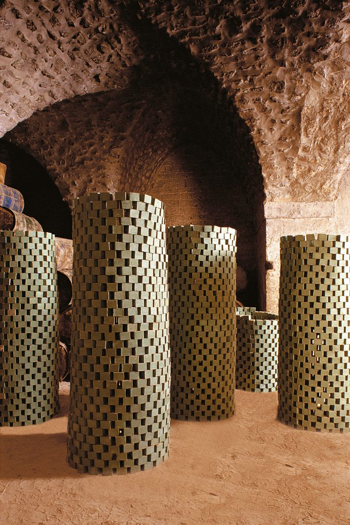 Aleppo block soap drying in the catacombs