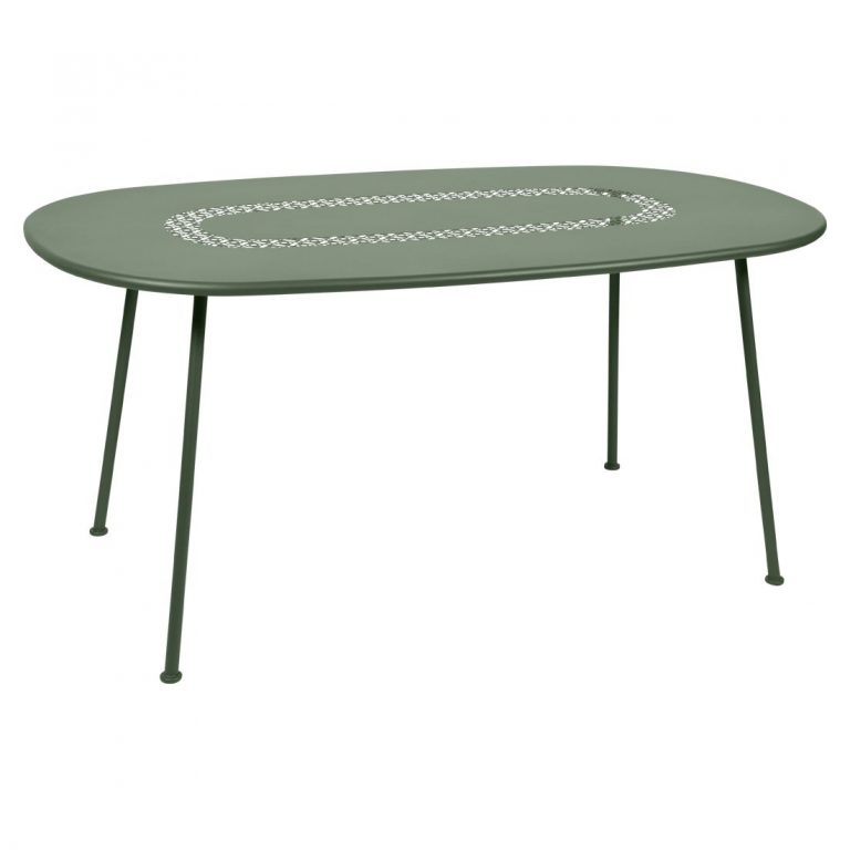 Lorette oval table in Cactus