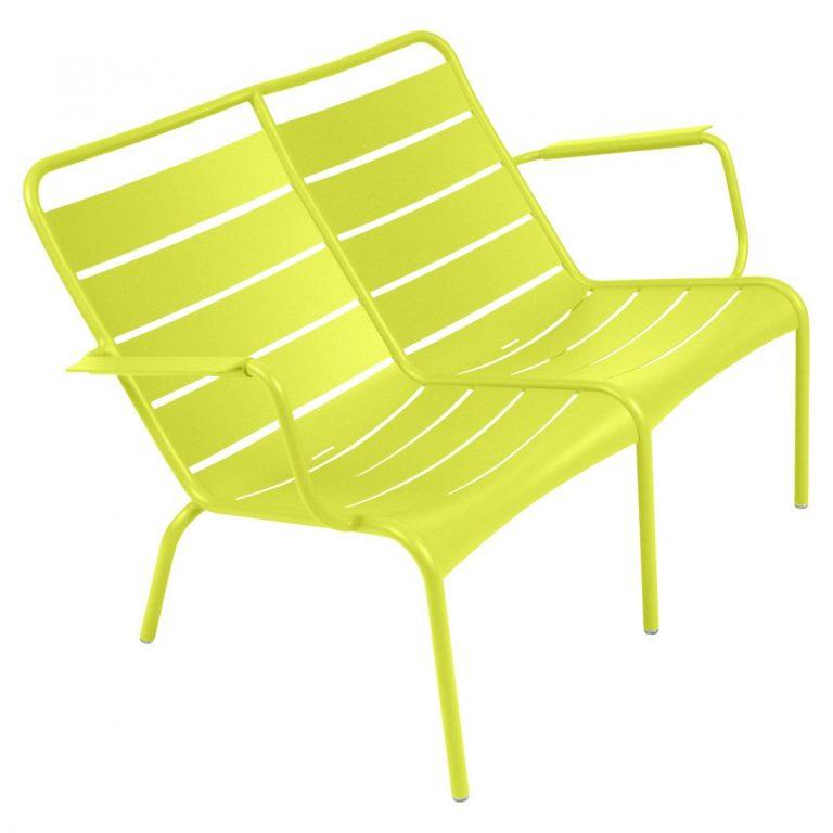 Luxembourg low armchair Duo in Verbena