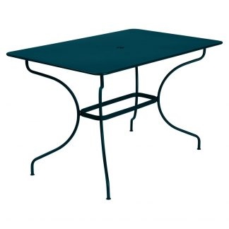 Opéra rectangular table in Acapulco Blue