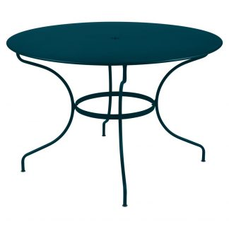 Large Opéra round table in Acapulco Blue
