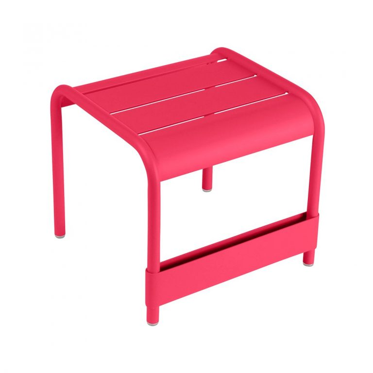 Luxembourg small low table/footstool in Pink Praline