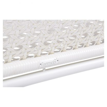Croisette bench XL in Cotton White