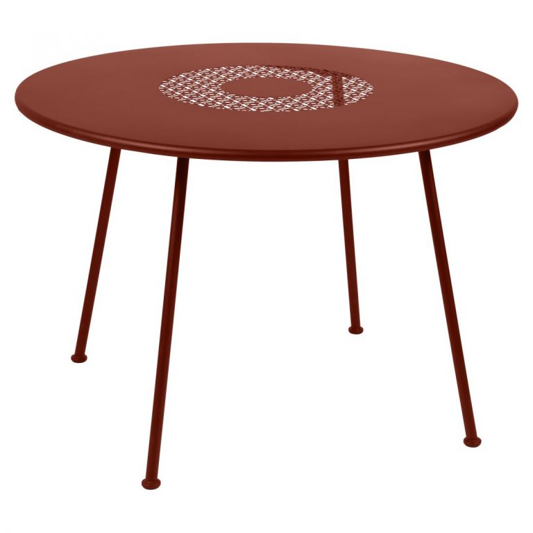 Lorette round table 110 cm in Ochre Red