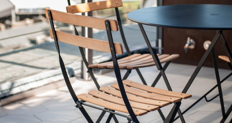 Bistro chair natural in Liqourice