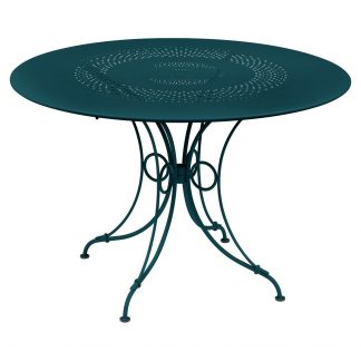1900 table, 117 cm in Acapulco Blue