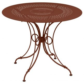 1900 table, 96 cm in Red Ochre