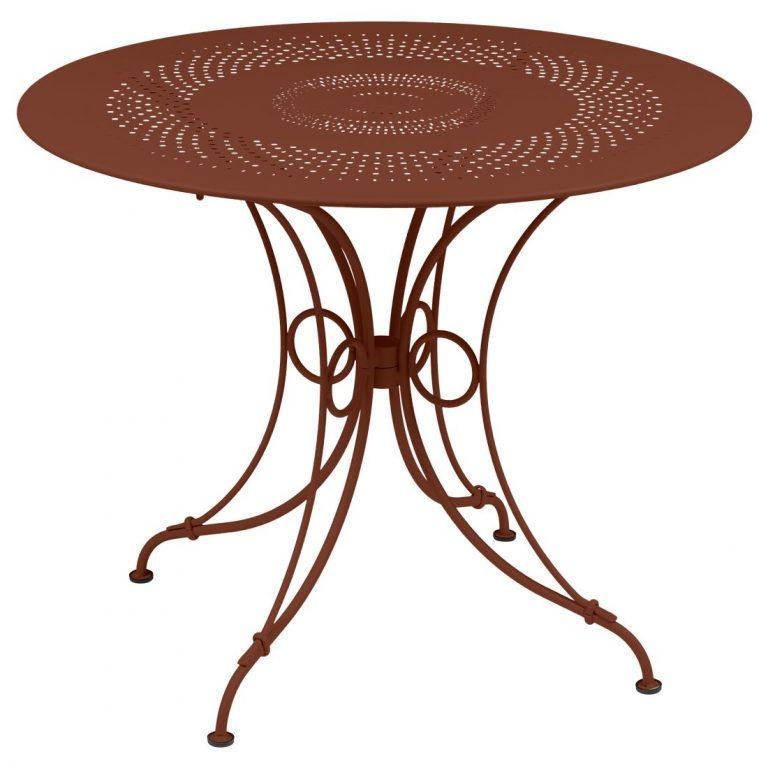 1900 table, 96 cm in Red Ochre