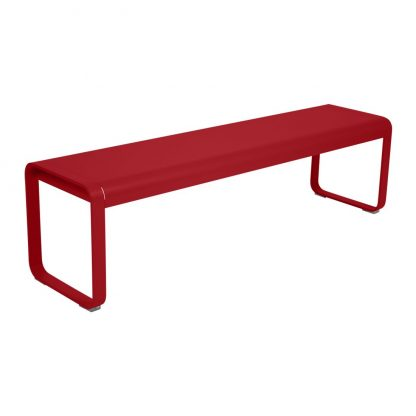 Bellevie bench in Poppy