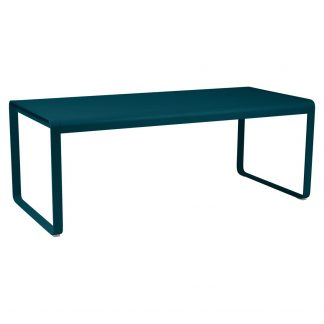 Bellevie table (196 cm × 90 cm) in Acapulco Blue