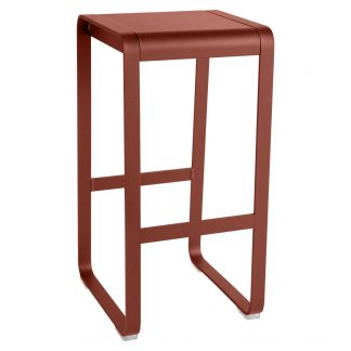 Bellevie high stool in Red Ochre