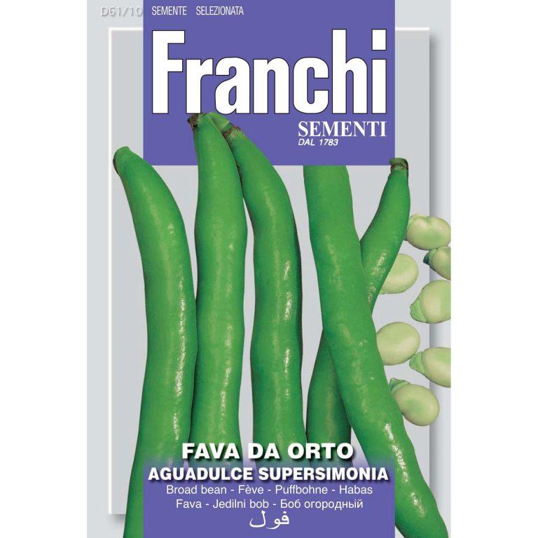 Broad Bean 'Fava aguadulce supersimonia'
