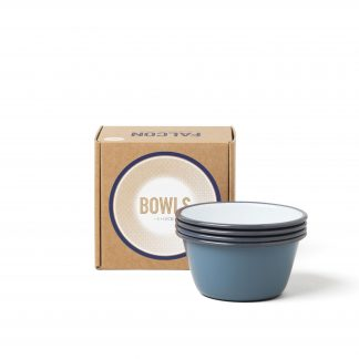 Falcon enamelware 12 cm bowls in Pigeon Grey