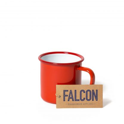 Enamel mug in Pillarbox Red