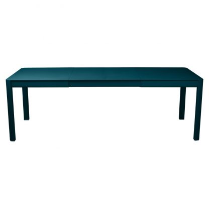 Ribambelle extending table with two extensions in Acapulco Blue
