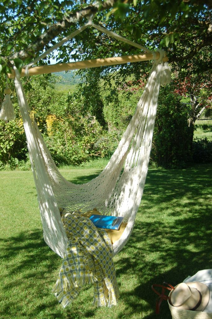 Woven cotton hanging chair
