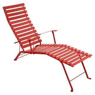 Bistro sunlounger in Capucine