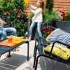 Luxembourg low bench/garden table, duo armchair and rocking chair, all in Anthracite