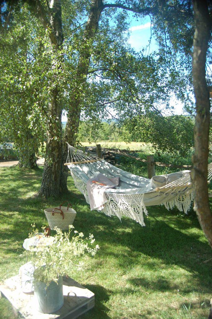 Cotton and denim hammock