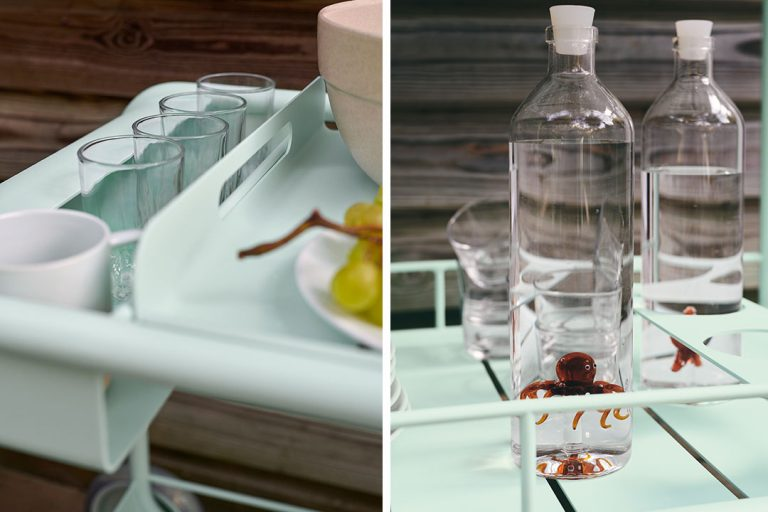 Luxembourg drinks trolley in Ice Mint