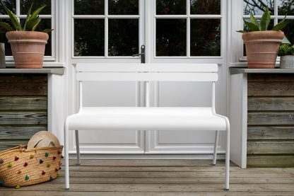 Luxembourg bench in Cotton White