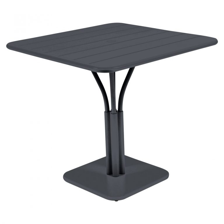 Luxembourg pedestal table in Anthracite