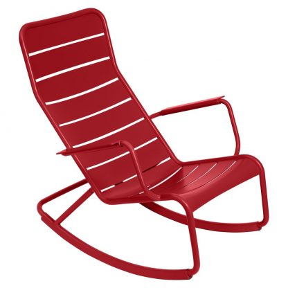Luxembourg rocking chair in Poppy