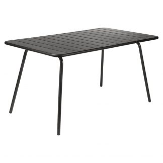 Luxembourg small rectangular table (143 cm x 80 cm) in Liquorice