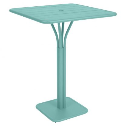 Luxembourg square high table in Lagoon Blue