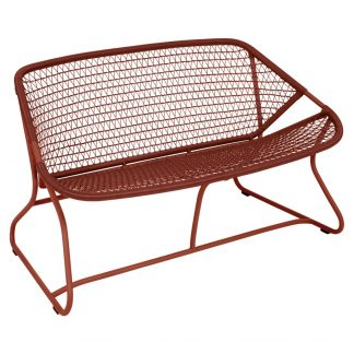 Sixties bench in Red Ochre