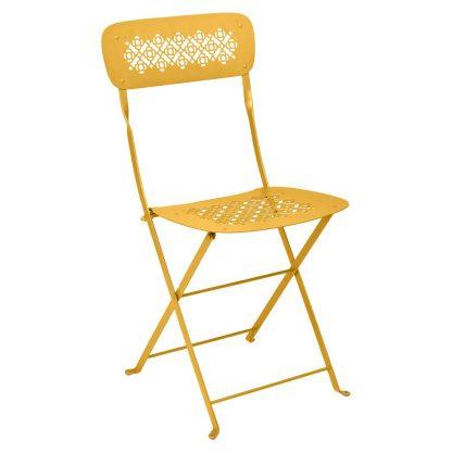 Lorette folding chair in Honey