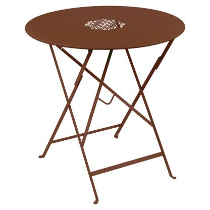 Lorette folding table 77 cm in Red Ochre