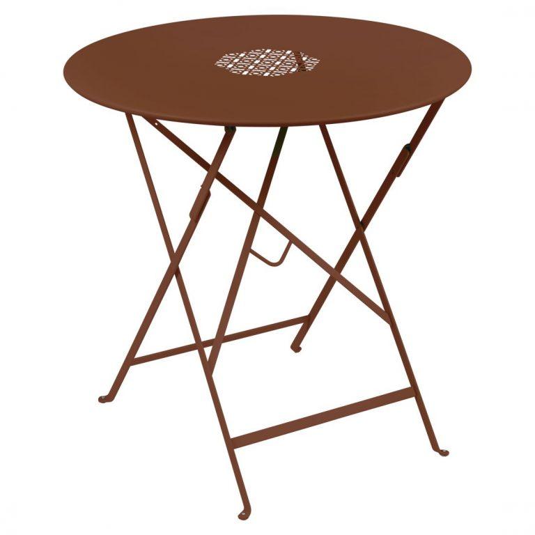 Lorette folding table 77 cm in Red Ochre
