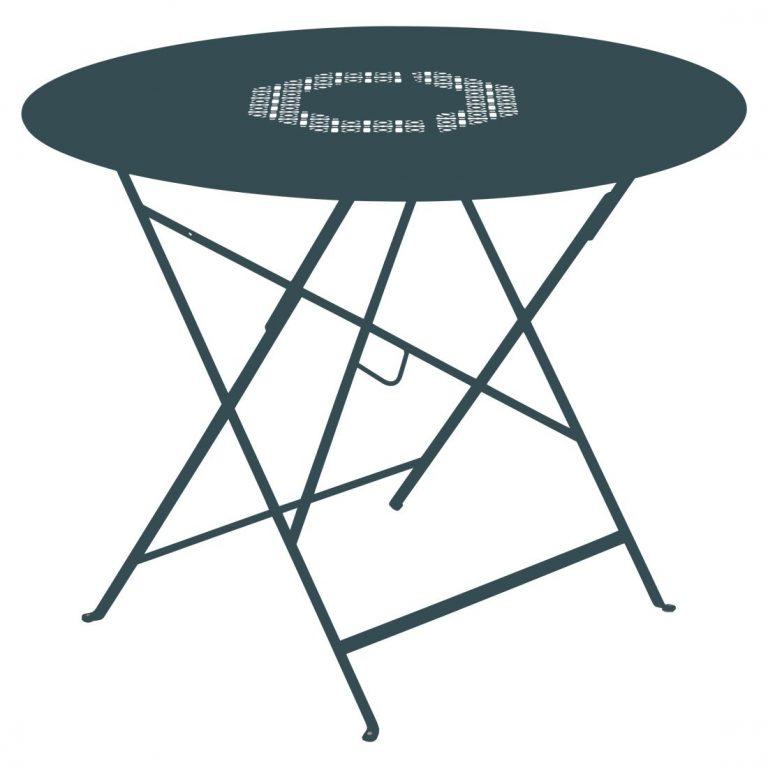 Lorette folding table 96 cm in Acapulco Blue