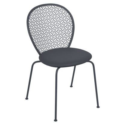 Lorette padded chair in Anthracite