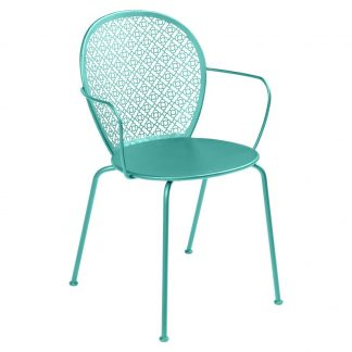 Lorette armchair in Lagoon Blue