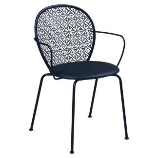 Lorette padded armchair in Deep Blue