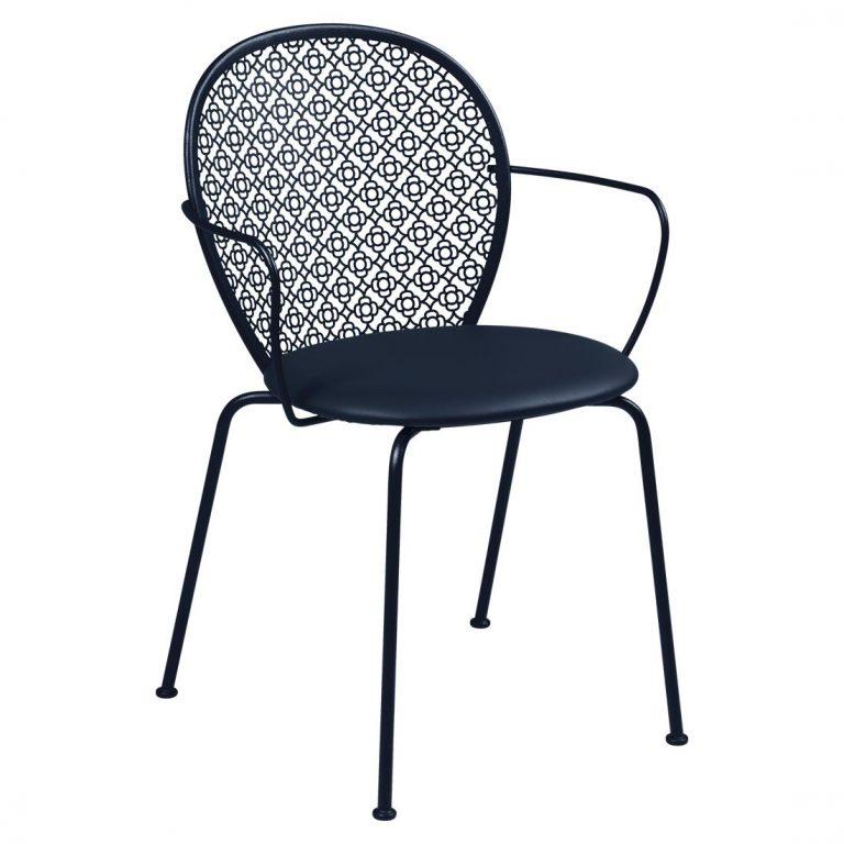Lorette padded armchair in Deep Blue