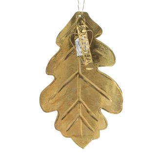 Brass oak leaf
