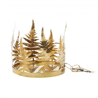 Brass fern candle holder