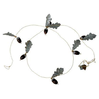 Chain with acorns & zinc oak leaves