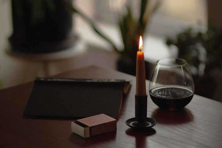 Standard dinner hand-dipped beeswax candle