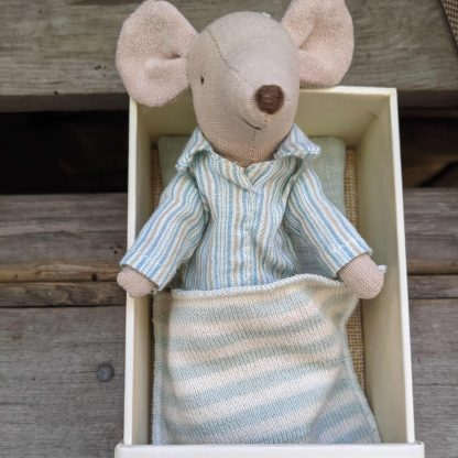 Big brother mouse in PJs
