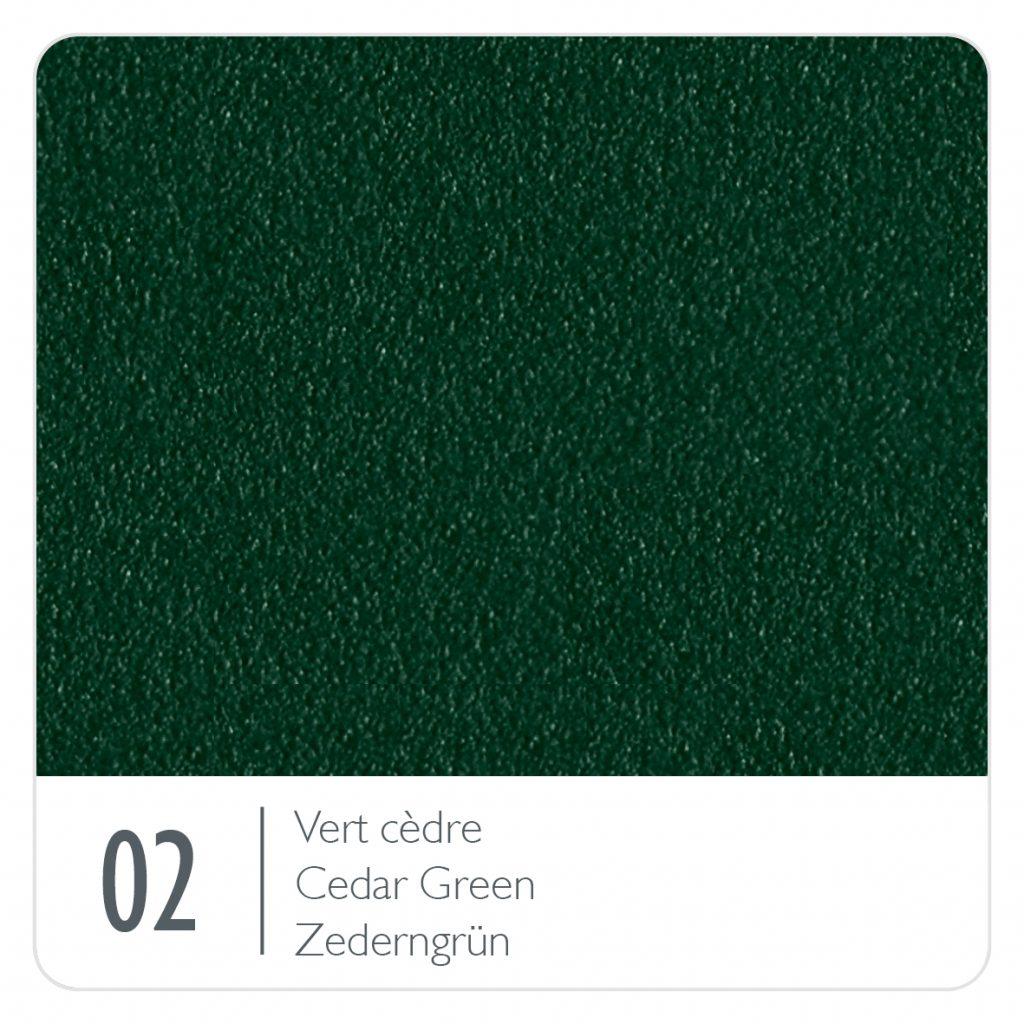 Colour swatch for the colour Cedar Green (02)