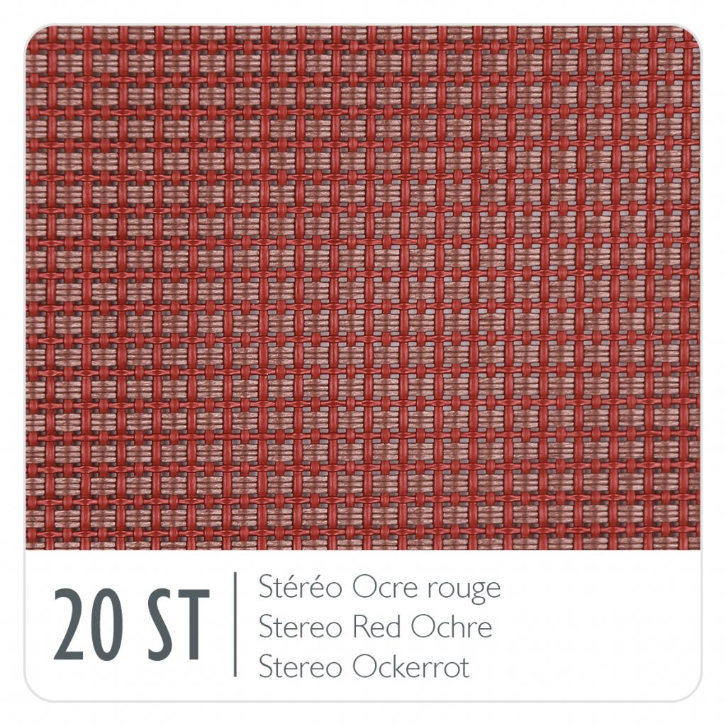 Colour swatch for the colour Red Ochre (20) Stereo OTF