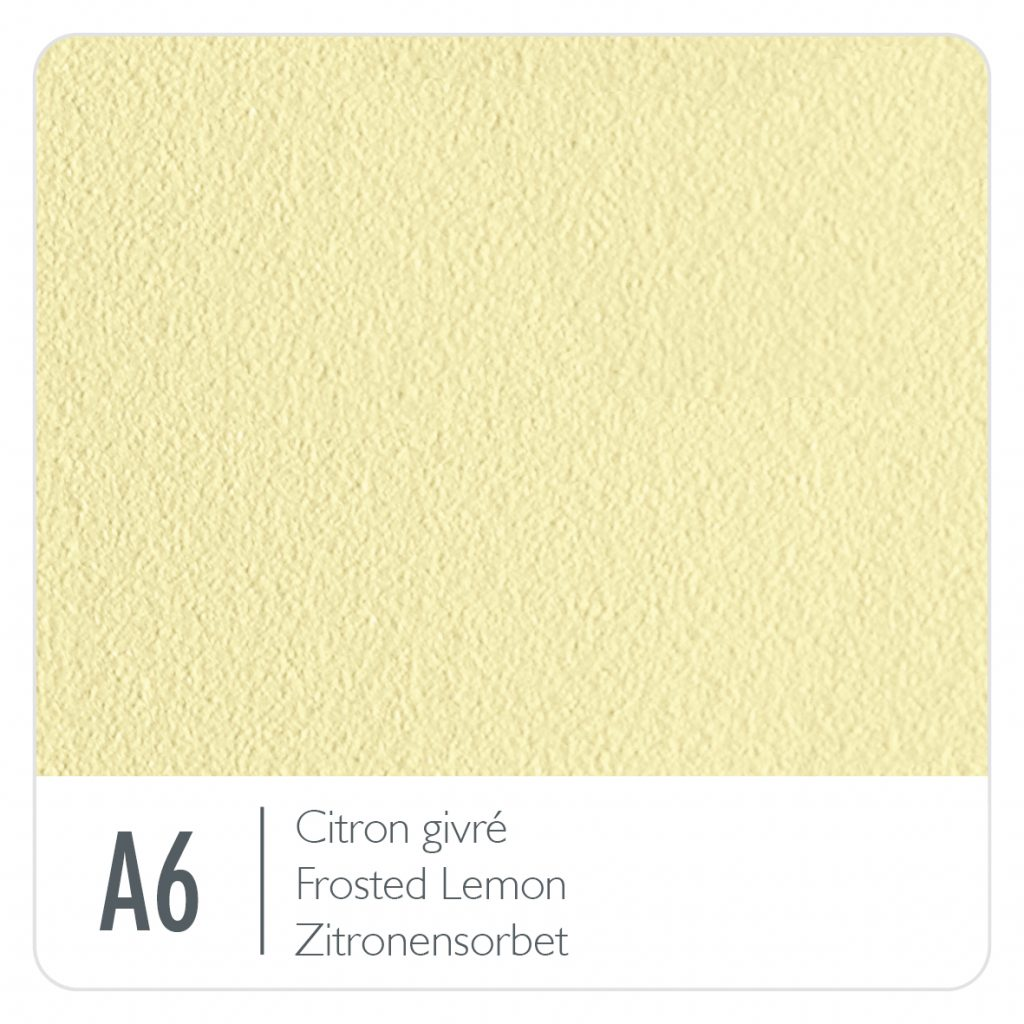 Colour swatch for the colour Frosted Lemon (A6)