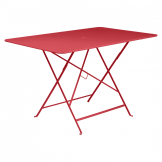 Bistro rectangular table, 117 cm by 77 cm in Poppy