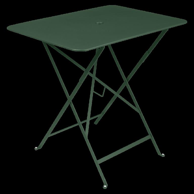 Bistro rectangular table, 77 cm by 57 cm in Cedar Green