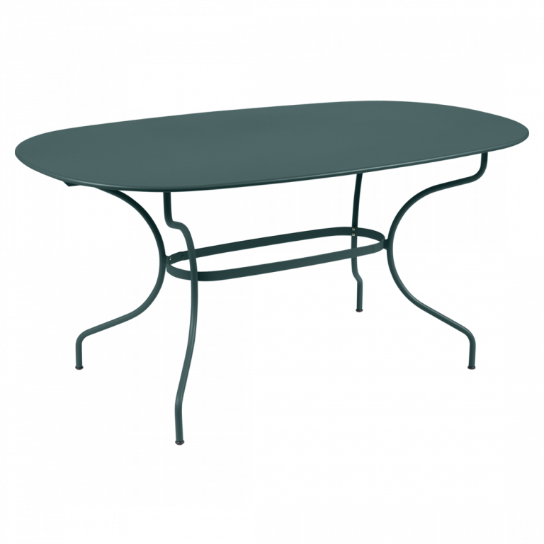Opéra+ oval table, 160 cm by 90 cm, in Storm Grey