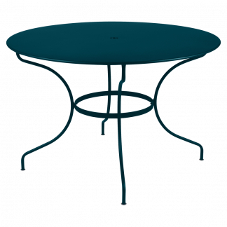 Opéra+ round table, 117 cm diameter in Acapulco Blue